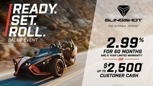 Slingshot - Ready. Set. Roll. Sales Event